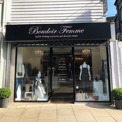 Boudoir femme shop front