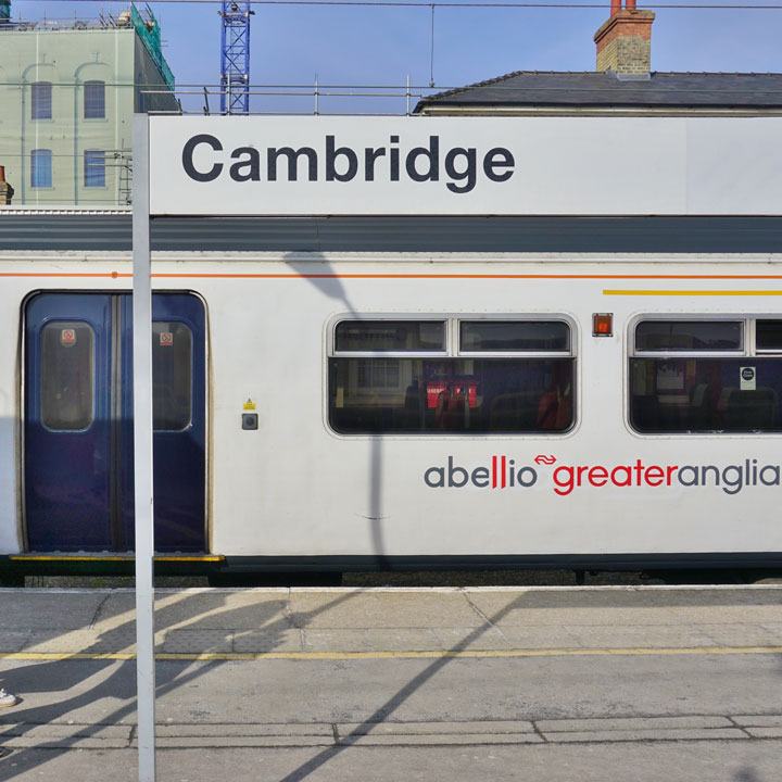 Travelling to Cambridge by train