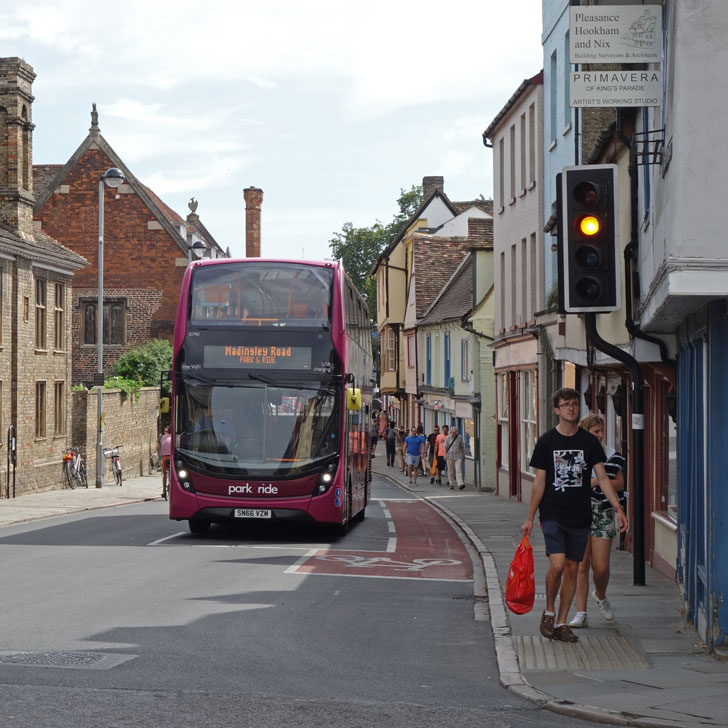 Traveling into the heart of Cambridge on the Park & Ride Services