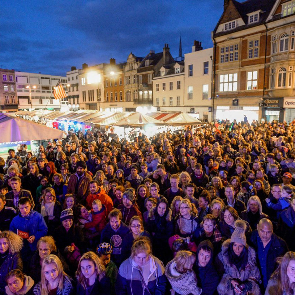 The Big Switch On in the Market Square