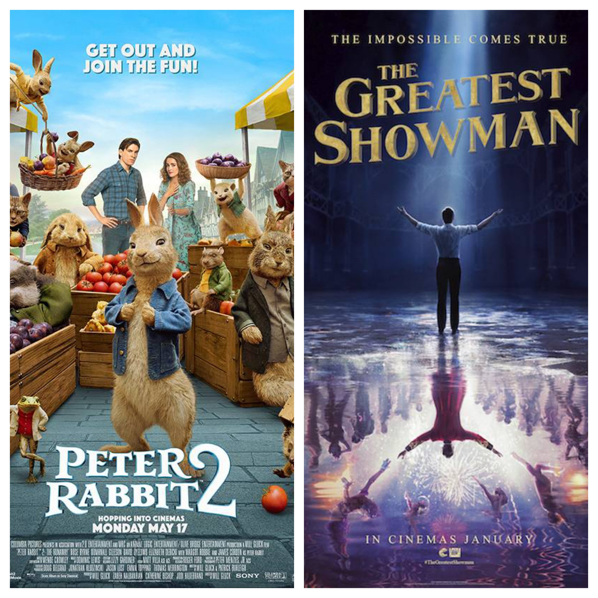 Peter Rabbit 2 and The Greatest Showman – Open Air Cinema