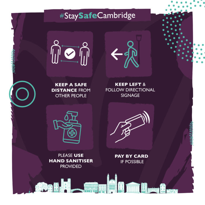 Safely welcoming visitors come back to Cambridge city centre